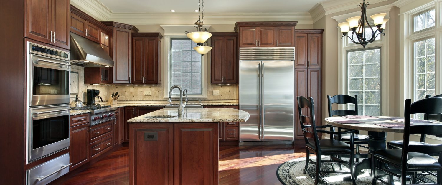 cherry wood cabinetry